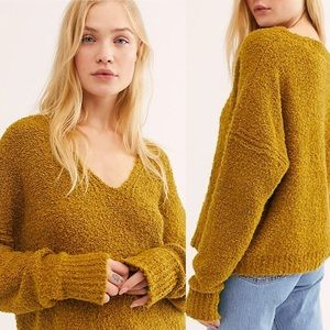 NWT Free People Finders Keepers V-Neck Sweater M